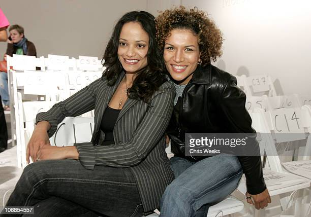 Judy Reyes and Lucia Rijker during MercedesBenz Fall 2005 Fashion Week at Smashbox Studios Kevan Hall Front Row at Smashbox Studios in Culver City...
