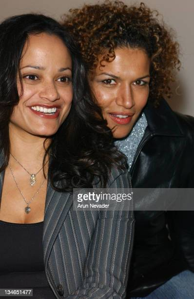 Judy Reyes and Lucia Rijker during Mercedes-Benz Fall 2005 L.A. Fashion Week at Smashbox Studios - Kevan Hall - Front Row at Smashbox Studios in...