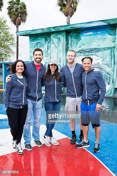 Judy Reyes Eric Winter Roselyn Sanchez Jay DeMerit and Cobi Jones attend the Celebrity Fitness Session for Compton Unified School District at Tibby...