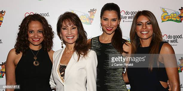 Judy Reyes Susan Lucci Roselyn Sanchez and Lisa Vidal attend the La Golda premiere at Lighthouse International Theater on April 26 2014 in New York...