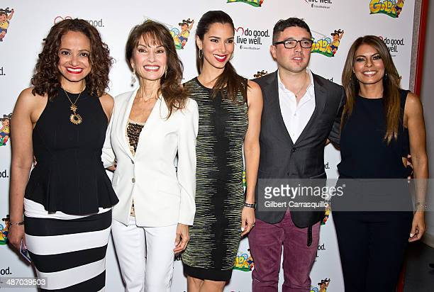 Judy Reyes Susan Lucci Roselyn Sanchez George Valencia and Lisa Vidal attend the La Golda premiere at Lighthouse International Theater on April 26...