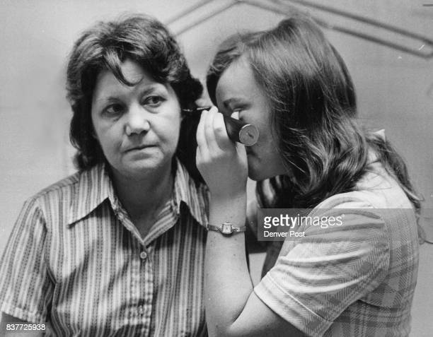 Judy Rottink is an Adult Health nurse Practitioner She uses an otoscope to examine the ears of Mrs Letha Potter of Golden Credit Denver Post