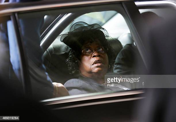 Judy Scott arrives for the funeral of her son Walter Scott at WORD Ministries Christian Center April 11 2015 in Summerville South Carolina Scott was...