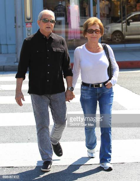 Judy Sheindlin and Jerry Sheindlin are seen on June 18 2017 in Los Angeles California