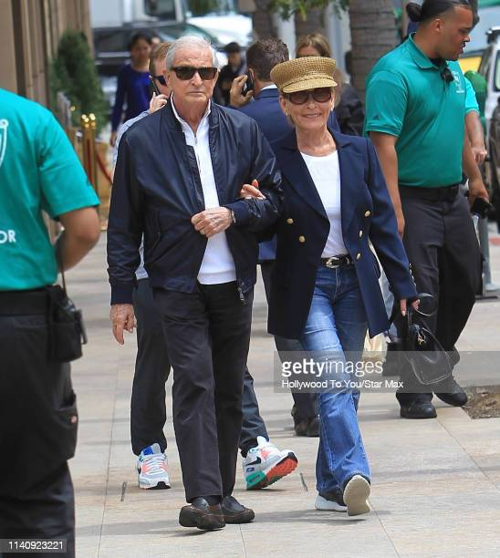 Judy Sheindlin and Jerry Sheindlin are seen on May 2, 2019 in Los Angeles, California.