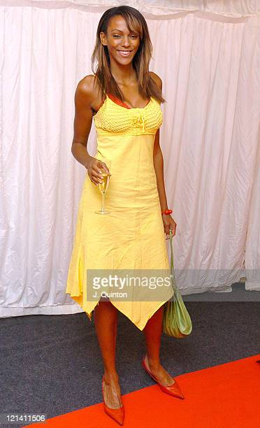 Judy Shekoni during ITV's 'Hell's Kitchen' May 27 2004 Arrivals at Brick Lane in London Great Britain
