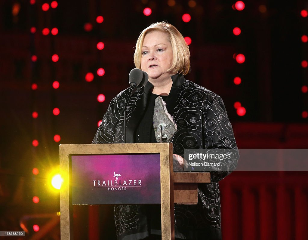Judy Shepard speaks onstage at Logo's 'Trailblazer Honors' 2015 at the Cathedral of St. John the Divine on June 25, 2015 in New York City.