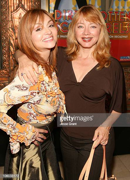 Judy Tenuta and Andrea Evans during 'Dirty Rotten Scoundrels' Los Angeles Premiere Performance Arrivals at Pantages Theatre in Hollywood California...