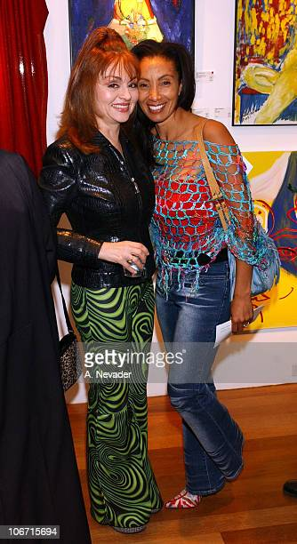 Judy Tenuta and Downtown Julie Brown during Sally Kirkland's One-Woman Art Show to Benefit The Institute for Individual and World Peace at Risk Press...