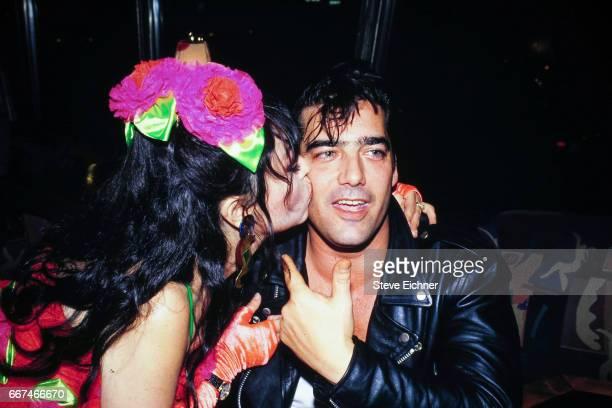 Judy Tenuta and Ken Wahl at Iridium Club New York New York May 5 1994