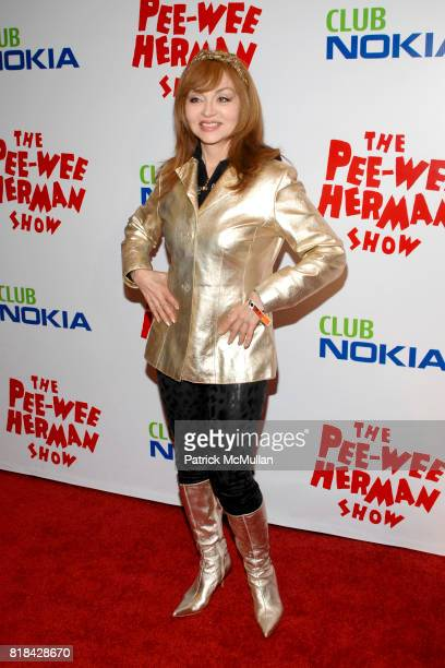 Judy Tenuta attends The Pee Wee Herman Show Opening Night at Club Nokia on January 20 2010 in Los Angeles California