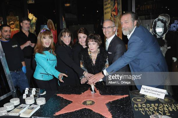 Judy Tenuta Kate Linder Donelle Dadigan Margaret O'Brien Mitch O'Farell and Darby Hinton attend The Hollywood Chamber's Awards Media Welcome Center...