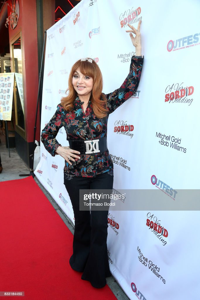 Judy Tenutabattends the Premiere Of Beard Collins Shores Productions' 'A Very Sordid Wedding' on August 16, 2017 in Beverly Hills, California.