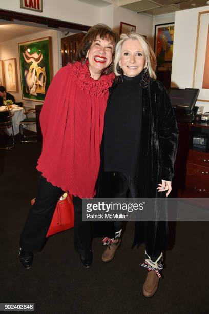 Judy Twersky and Sheila Nevins attend Joan Kron's 90th Birthday 'Take My NosePlease' Release Party at Michael's on January 7 2018 in New York City