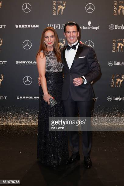 Judy Weiss and Philipp Welte arrive at the Bambi Awards 2017 at Stage Theater on November 16 2017 in Berlin Germany