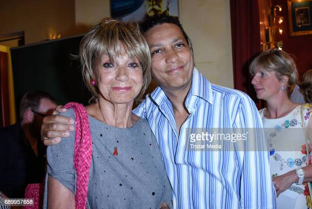 Judy Winter and adopted son Francis Winter during the Ralph Siegel musical 'Zeppelin' performance in Berlin at Wintergarten on May 29 2017 in Berlin...