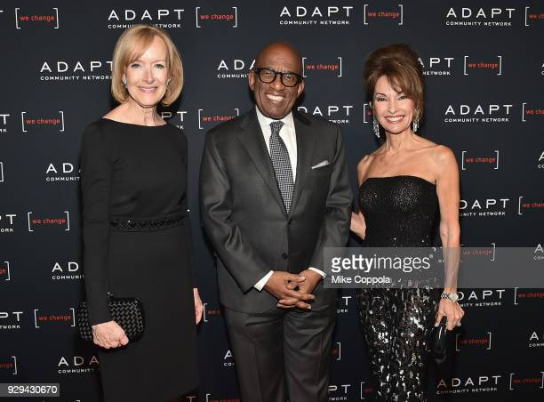 Judy Woodruff Al Roker and Susan Lucci attend the Adapt Leadership Awards Gala 2018 at Cipriani 42nd Street on March 8 2018 in New York City