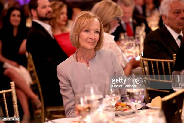 Judy Woodruff attends The Gracies presented by the Alliance for Women in Media Foundation at Cipriani 42nd Street on June 27 2018 in New York City