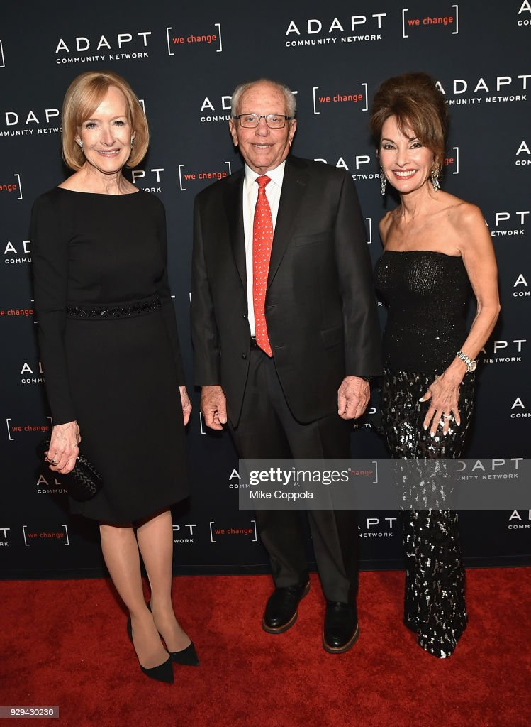 Judy Woodruff, Marty Hausman, and Susan Lucci attend the Adapt Leadership Awards Gala 2018 at Cipriani 42nd Street on March 8, 2018 in New York City.