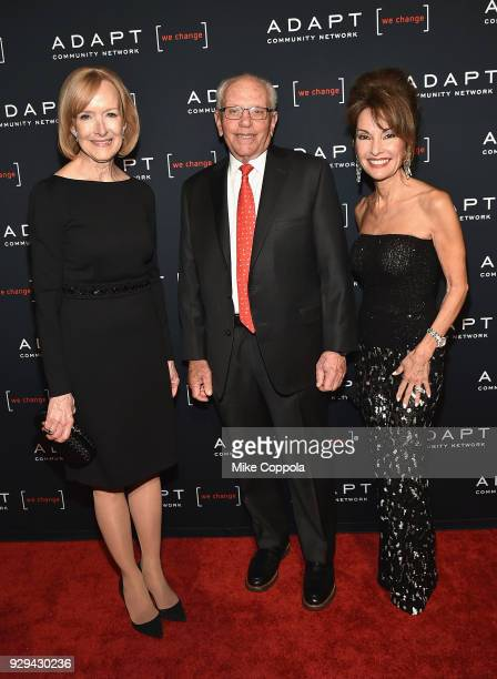 Judy Woodruff Marty Hausman and Susan Lucci attend the Adapt Leadership Awards Gala 2018 at Cipriani 42nd Street on March 8 2018 in New York City