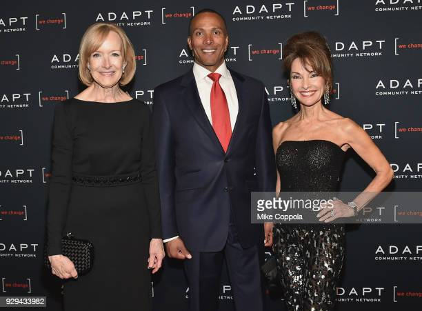 Judy Woodruff Mike Woods and Susan Lucci attend the Adapt Leadership Awards Gala 2018 at Cipriani 42nd Street on March 8 2018 in New York City