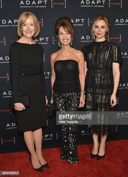 Judy Woodruff Susan Lucci and Cara Buono attend the Adapt Leadership Awards Gala 2018 at Cipriani 42nd Street on March 8 2018 in New York City
