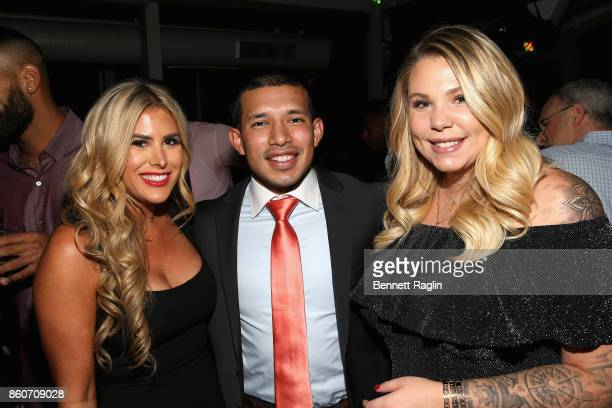 Juelia Kinney Javi Marroquin and Kailyn Lowry attend the exclusive premiere party for Marriage Boot Camp Reality Stars Season 9 hosted by WE tv on...