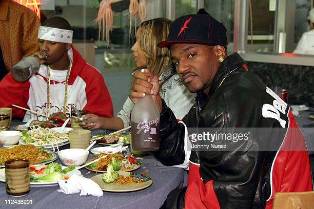Juelz Santana and Cam'Ron during Diplomat's 'Santana' Video Shoot October 23 2004 at Capitale in New York City New York United States