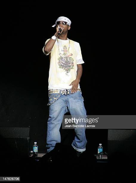 Juelz Santana during Chris Brown Juelz Santana NeYo Lil Wayne and Dem Franchize Boyz in Concert in Miami September 8 2006 at American Airlines Arena...
