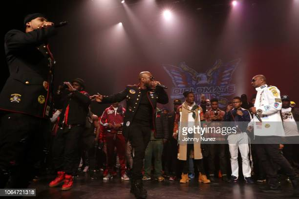 Juelz Santana, Freekey Zekey, and Cam'ron perform at The Apollo Theater on November 23, 2018 in New York City.