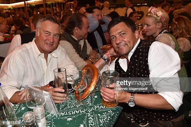 Juergen B Harder and Sven Sturm attend the BILD Wiesn at Marstall Festzelt during the Oktoberfest at Theresienwiese on September 26 2016 in Munich...
