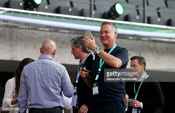 Juergen B Harder looks on prior to the DFB Cup Final 2016 between Bayern Muenchen and Borussia Dortmund at Olympiastadion on May 21 2016 in Berlin...