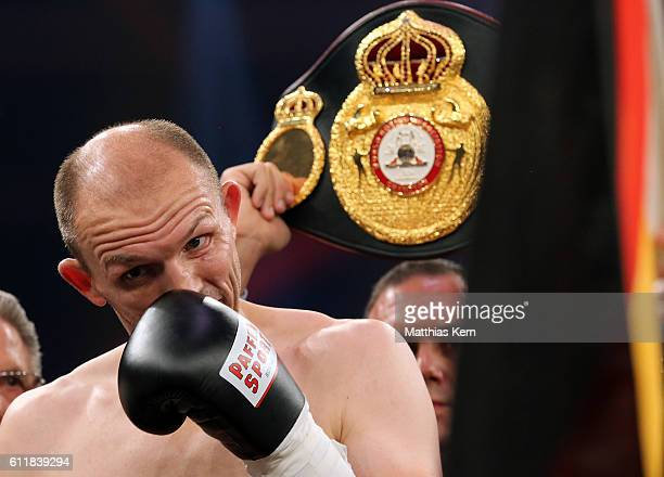 Juergen Braehmer looks on prior to the WBA light heavyweight world championship title fight between Juergen Braehmer of Germany and Nathan Cleverly...