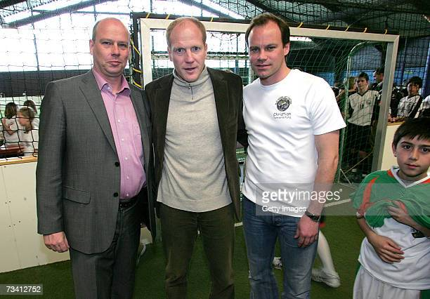 Juergen Donauer Matthias Sammer and Christian Nerlinger during the 'Play Soccer Get Together' charity tournament sponsored by Bitburger on February...