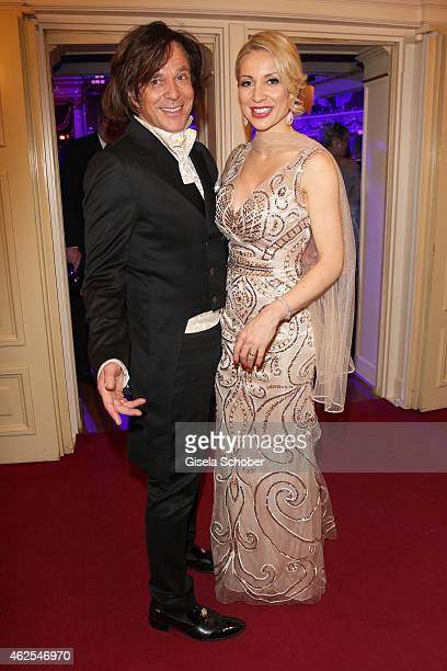 Juergen Drews and his wife Ramona during the Semper Opera Ball 2015 at Semperoper on January 30 2015 in Dresden Germany