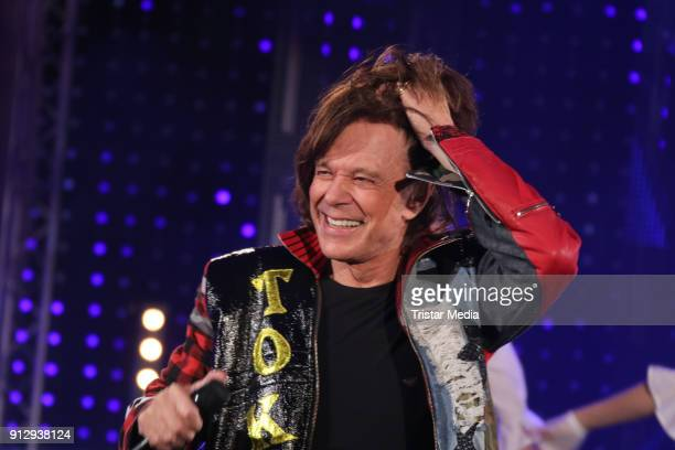 Juergen Drews during the TV Show 'Meine Schlagerwelt Die Party' hosted by Ross Antony on January 31 2018 in Leipzig Germany