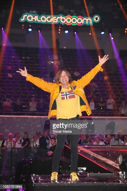 Juergen Drews during the tv show 'Schlagerbooom 2018 Alles funkelt Alles glitzert' at Westfalen Stadium on October 20 2018 in Dortmund Germany