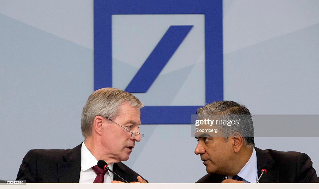 Co-Chief Executive Officers Anshu Jain And Juergen Fitschen Resign