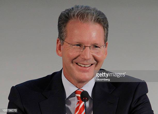 Juergen Geissinger chief executive officer of Schaeffler Group pauses during a news conference in Munich Germany on Wednesday Sept 1 2010 Schaeffler...