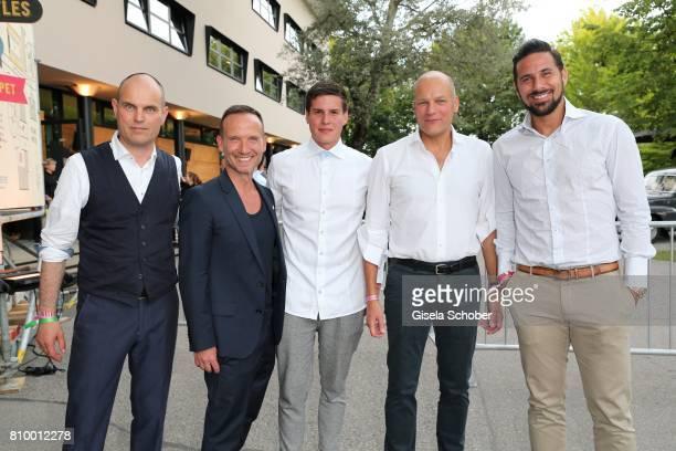 Juergen Hahn CFO Marc O'Polo, Bernd Keller, COO Marc O'Polo, Johannes Moesmang, Alexander Gedat, CEO Marc O'Polo and Claudia Pizarro during the 50th...