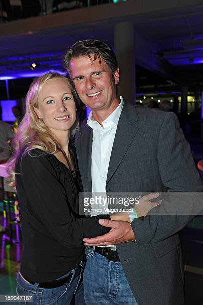 Juergen Hausmann and his wife Constanze Hausmann attend the private concert with Ludvig Andersson and his band ATLAS at Mercedes-Benz Center on...