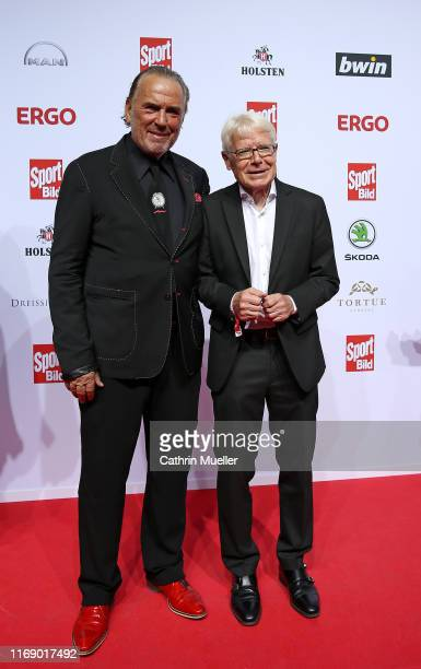 Juergen Hunke and Reinhard Rauball attend the Sport Bild Award 2019 at the Fischauktionshalle on August 19 2019 in Hamburg Germany