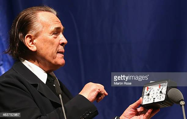 Juergen Hunke speaks during the Annual Meeting of Hamburger SV at the Hamburger congress center on January 19 2014 in Hamburg Germany
