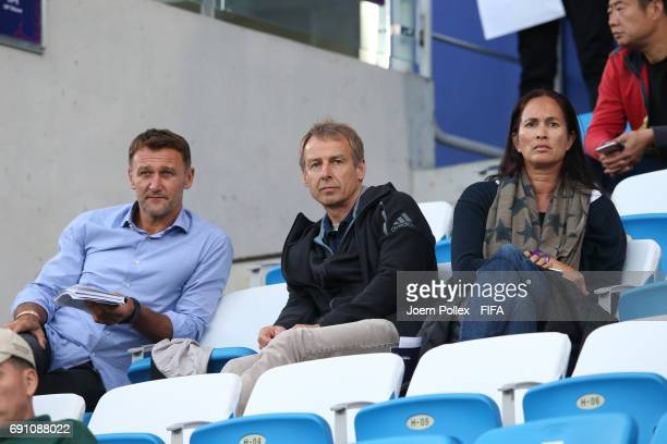 Juergen Klinsmann and his wife Debbie during the FIFA U20 World Cup Korea Republic 2017 Round of 16 match between USA and New Zealand at Incheon...