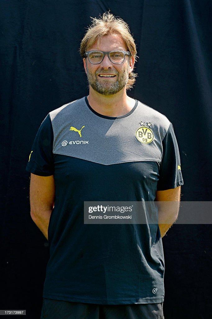 Juergen Klopp poses during the Borussia Dortmund Team Presentation at Brackel Training Ground on July 9, 2013 in Dortmund, Germany.