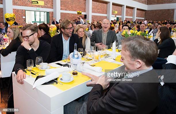 DORTMUND GERMANY JANUARY 26 Juergen KloppUlla KloppThomas TressHansJoachim Watzke during the Borussia Dortmund New Years Reception on January 26 2014...