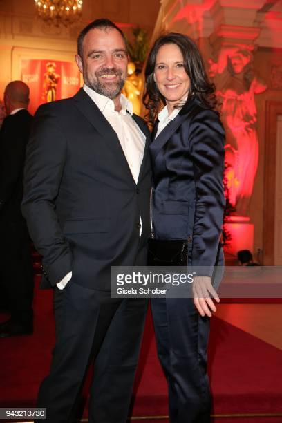Juergen Maurer and his girlfriend Maria Koestlinger during the 29th ROMY award at Hofburg Vienna on April 7 2018 in Vienna Austria