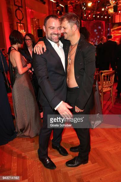 Juergen Maurer and Philipp Hochmair during the 29th ROMY award at Hofburg Vienna on April 7 2018 in Vienna Austria
