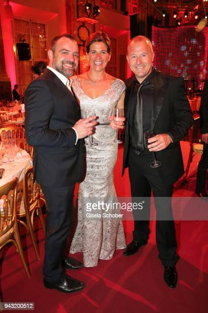 Juergen Maurer Heino Ferch and his wife MarieJeanette Ferch during the 29th ROMY award at Hofburg Vienna on April 7 2018 in Vienna Austria