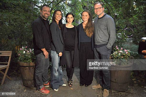 Juergen Maurer Maria Koestlinger Martina Ebm Gerti Drassl and Thomas Stipsits pose during a photocall for the 3rd season of the tv show...